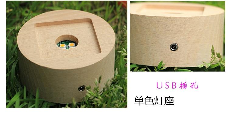 Rotatif lumineux lune boîte à musique boule de cristal 3d Illusion lampe USB Led veilleuse cadeau de noël enfants lumières décoration maison - 6