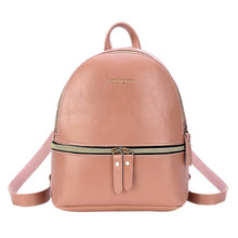 HTNBO Korean Style Solid Color Women's Backpack 2019 Mini Le