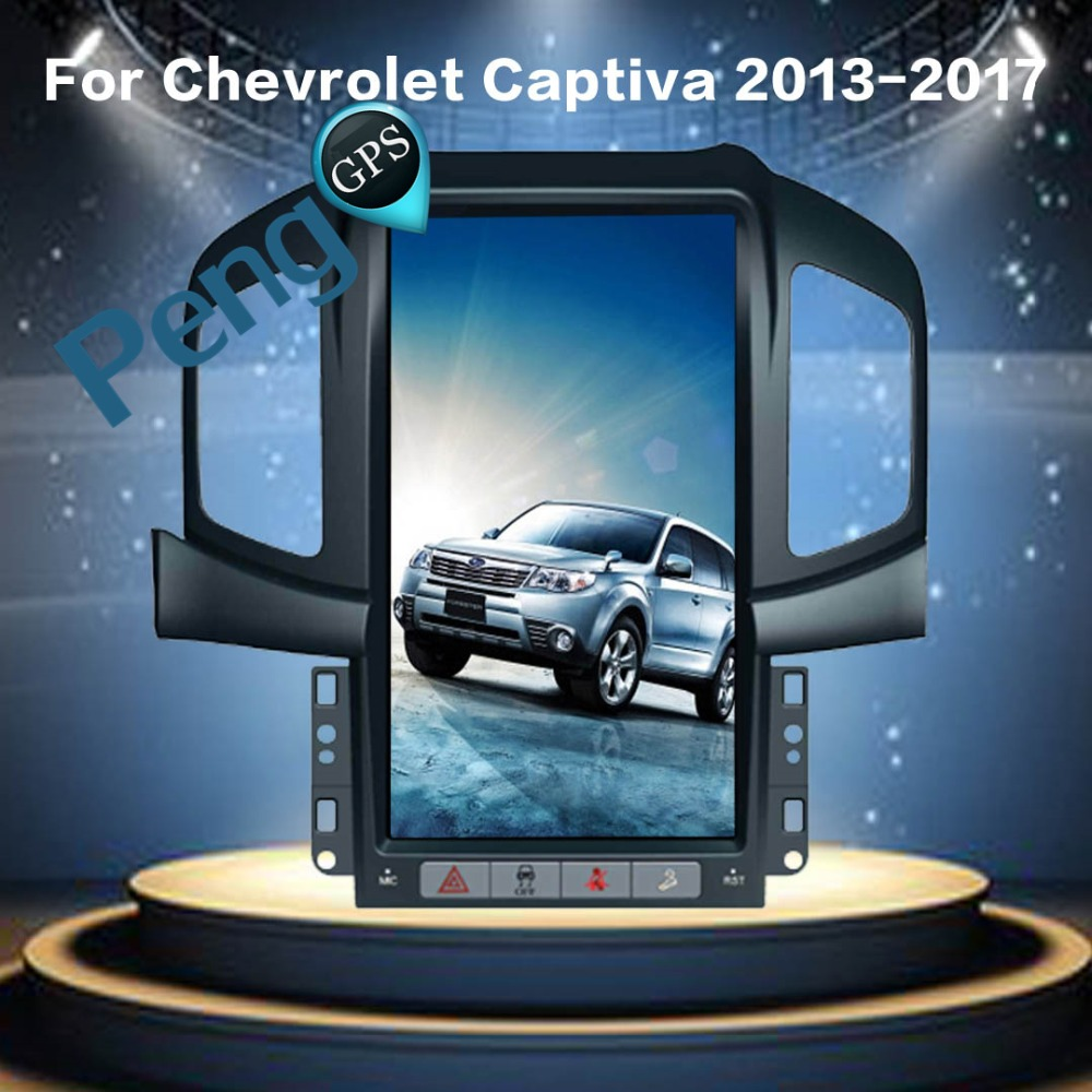 Tesla Estilo Android 6.0 Quad Core GPS Car Navigation DVD Player para Chevrolet Captiva (Fábrica Navi) 2013 2014 2015 2016 2017