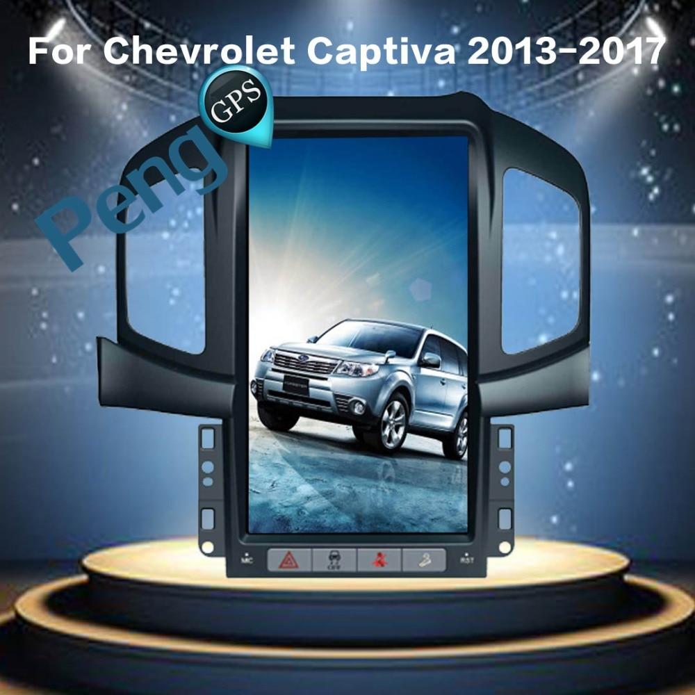Tesla Style Android 6.0 Quad Core Voiture GPS Navigation Lecteur DVD pour Chevrolet Captiva (Usine Navi) 2013 2014 2015 2016 2017