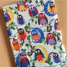Animal Printed Cotton Linen Fabric Patchwork Canvas Cloth Blend Handmade DIY Sewing Quilting Textile Crafts