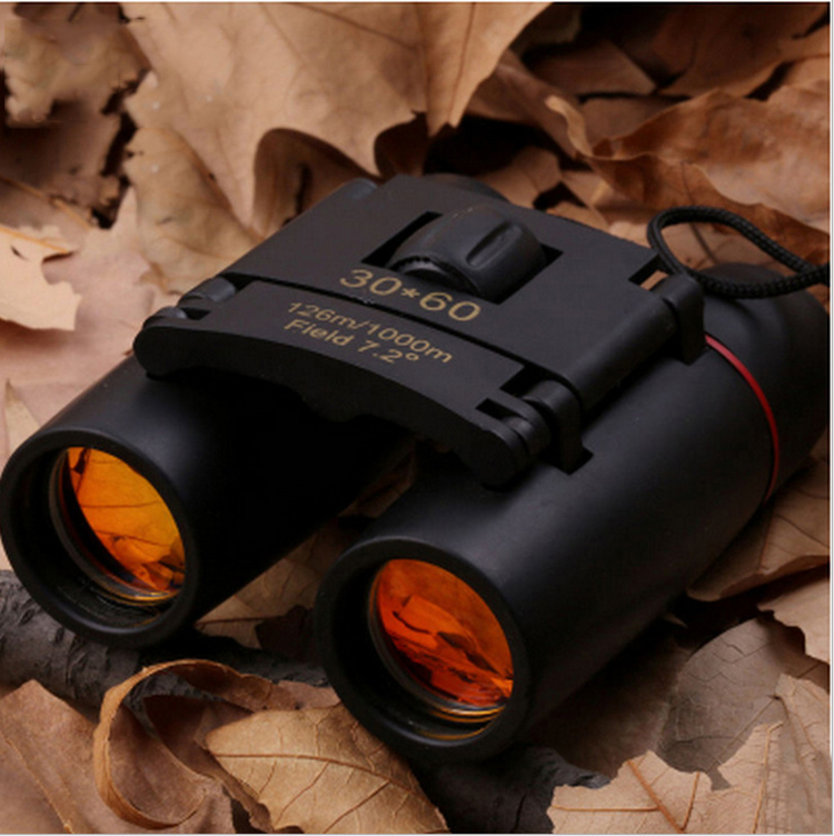 2019 HD 30x60 Zoom Telescope Folding Binoculars with Low Light Night Vision for Outdoor Bird Watching Travelling Hunting Camping