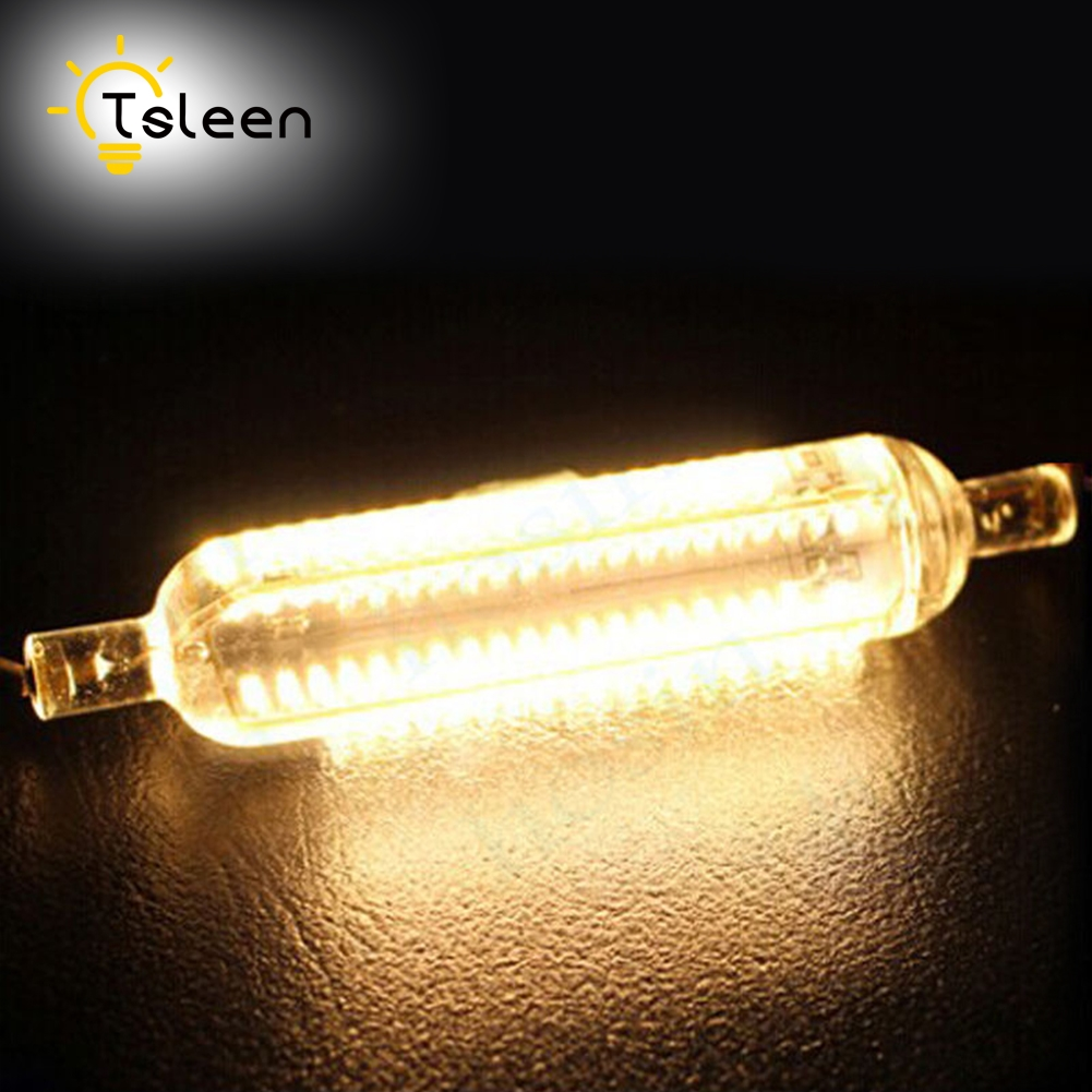 TSLEEN Silicone 3014SMD LED Lamp 10W 15W SMD3014 78mm 118mm LED R7S Light Bulb 220V Energy Saving Replace Halogen Light Lampada