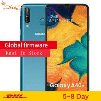 Перейти на Алиэкспресс и купить Смартфон Samsung Galaxy A40s, 4G LTE, Android, 6,4 дюйма, Восьмиядерный, 6 ГБ, 64 ГБ, 5000 мАч, супер быстрая зарядка, разблокировка лица, мобильный телефон