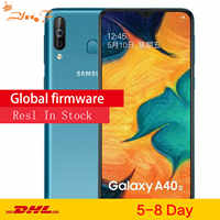 Samsung Galaxy A40s 4G LTE Smartphone Android 6.4 Octa Núcleo 6 Polegada GB 64GB 5000mAh Super- carregamento rápido Cara desbloquear o telefone Móvel