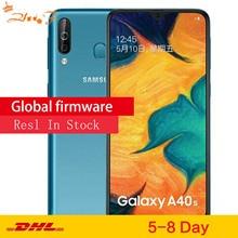 סמסונג גלקסי A40s 4G LTE אנדרואיד Smartphone 6.4 אינץ אוקטה Core 6GB 64GB 5000mAh סופר מהיר טעינת פנים נעילה נייד טלפון