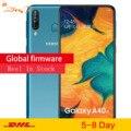 Samsung Galaxy A40s 4G LTE Android смартфон 6,4 дюймов Восьмиядерный 6 ГБ 64 Гб 5000 мАч супер-быстрая зарядка лицо разблокированный мобильный телефон