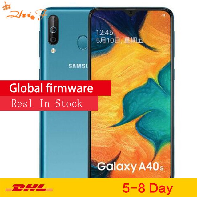 Samsung Galaxy A40s 4G LTE Android Smartphone 6.4 Inch Octa Core 6GB 64GB 5000mAh Super fast charging Face unlock Mobile phone