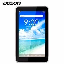 ГОРЯЧАЯ AOSON M751S-BS 7 дюймов планшет для детей Quad Core WiFi 512 МБ оперативной памяти 8 ГБ ROM двойная камера android 4.4 0.3/2MP внешний 3 г Bluetooth
