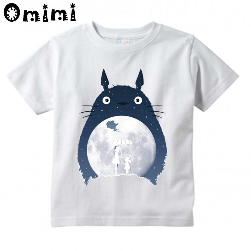 Kids Anime Totoro Design T Shirt Boys/Girls Great Casual Kawaii Short Sleeve Tops Children's Funny T-Shirt