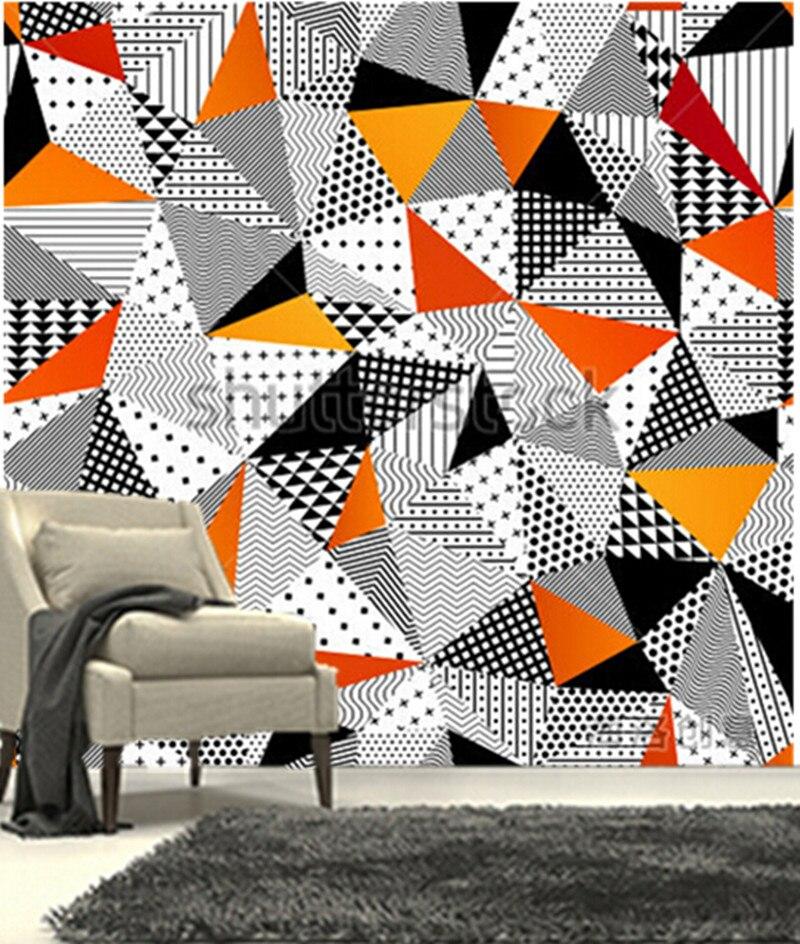 Custom 3D large mural,beautiful color geometric design papel de parede ,living room TV wall bedroom wallpaper custom large mural papel de parede beautiful fantasy lavender wallpaper living room tv sofa wall bedroom 3d modern wallpaper