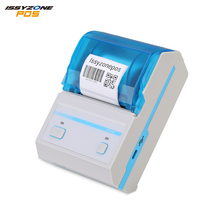 Issyzonepos Thermal Label Printer Mobile Bluetooth 4.0 Android iOS Barcode 58mm Price Tag 2 Printer USB For Windows Wireless