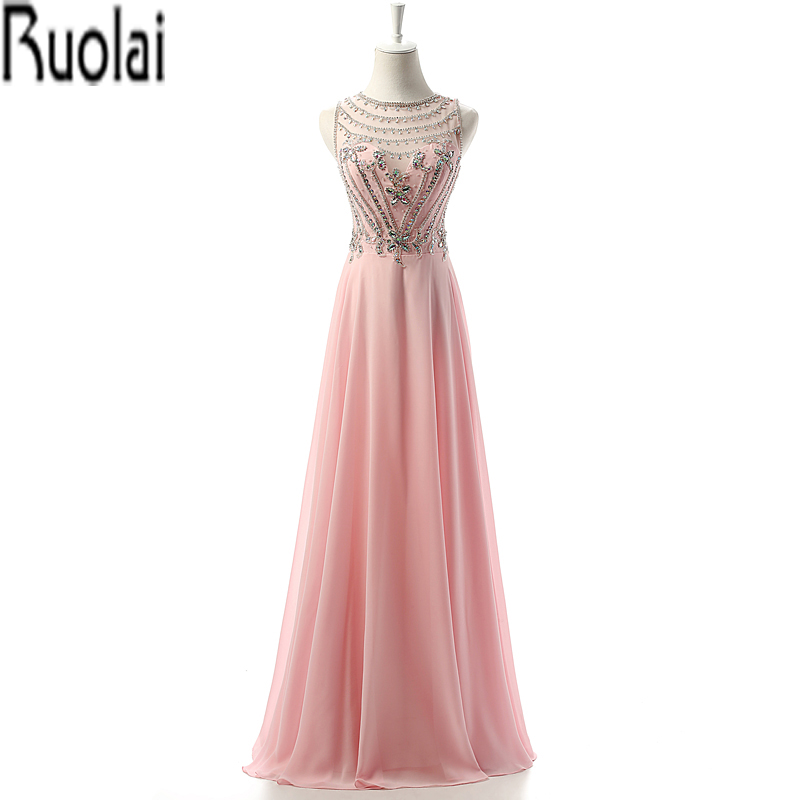 2016 New Arrival Elegant Lace Heavy Beading Crystal Tulle A Line Chiffon Floor Length Custom Made Formal Long   Prom     Dresses