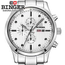 Classic Men's White Gold Silver Band Dial Skeleton Japanese Quartz Sport Army Wrist Watch Multifunction Wristwatch Dual Time