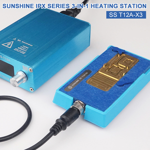 Image 2 - SUNSHINE 3 In 1 Heating Station SS T12A X3 For IPhone X XS XSMAX PCB CPU Heat Degumming Heating Plate Glue Removal Platform