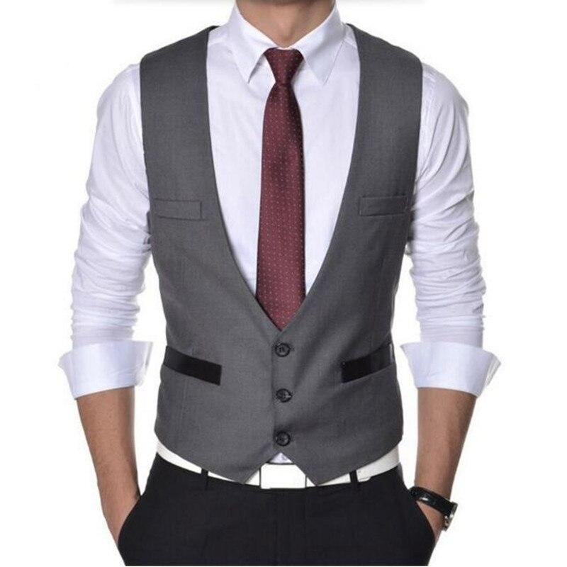 High Quality Men Vest Suit Single breasted Formal Mens Vests Slim Fit Solid  Color Mens Waistcoats Dress Vests|formal men vest|mens vest suitvest suit -  AliExpress