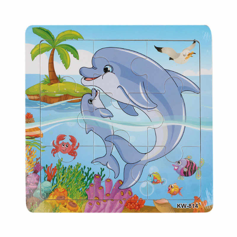New Cute Gifts Wooden Whale Jigsaw Toys For Kids Education And Learning  Puzzles Toy Fashion Kids Baby Games Toy