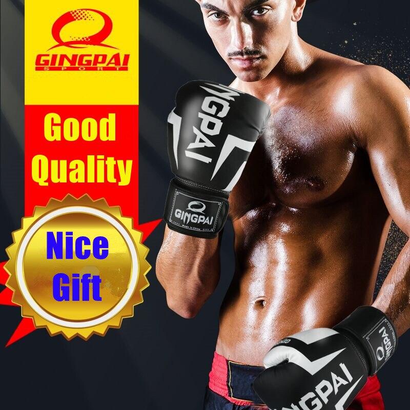 12 унций, высокое качество, Боксерские перчатки для детей и взрослых, MMA kick, дышащие, Муай Тай, боевые искусства, боевые тренировки, пробивные п...