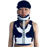 Фули регулируемым головы и шеи грудь поддержка головы и шеи груди коррекции Ортез позе после краниотомии, Сильный фиксированной