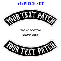 PATCH à bascule MC brodé sur mesure 350 MM de large haut ou bas 2 pièces veste de motard moto coupe