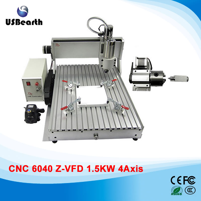 110/220V 1500w 4 axis metal milling machine cnc 6040 with limit switch, for metal wood cutting 110 220v 1500w 4 axis metal milling machine cnc 6040 with limit switch for metal wood cutting