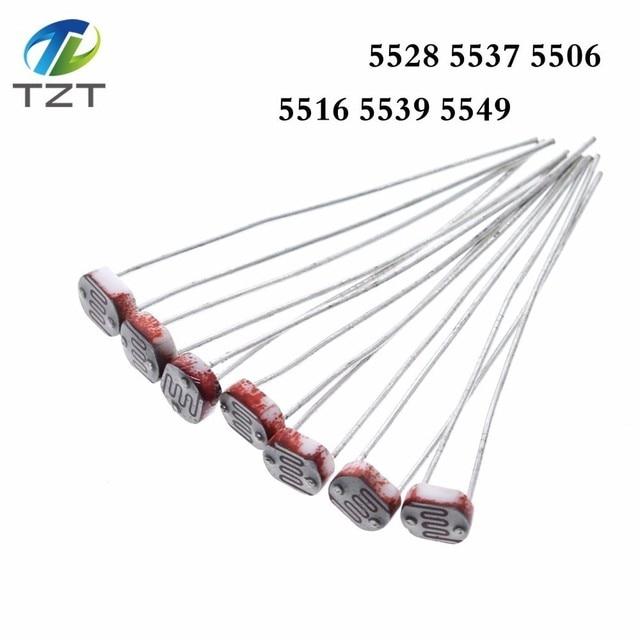 1000 Uds LDR Resistor fotosensible fotoeléctrico fotorresistencia 5528 GL5528 5537, 5506, 5516, 5539, 5549 para Arduino