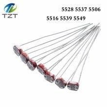 1000 pçs ldr photo light resistor sensível fotoelétrico photoresistor 5528 gl5528 5537 5506 5516 5539 5549 para arduino
