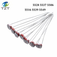 1000PCS LDR Photo Light Sensitive Resistor Photoelectric Photoresistor 5528 GL5528 5537 5506 5516 5539 5549สำหรับArduino
