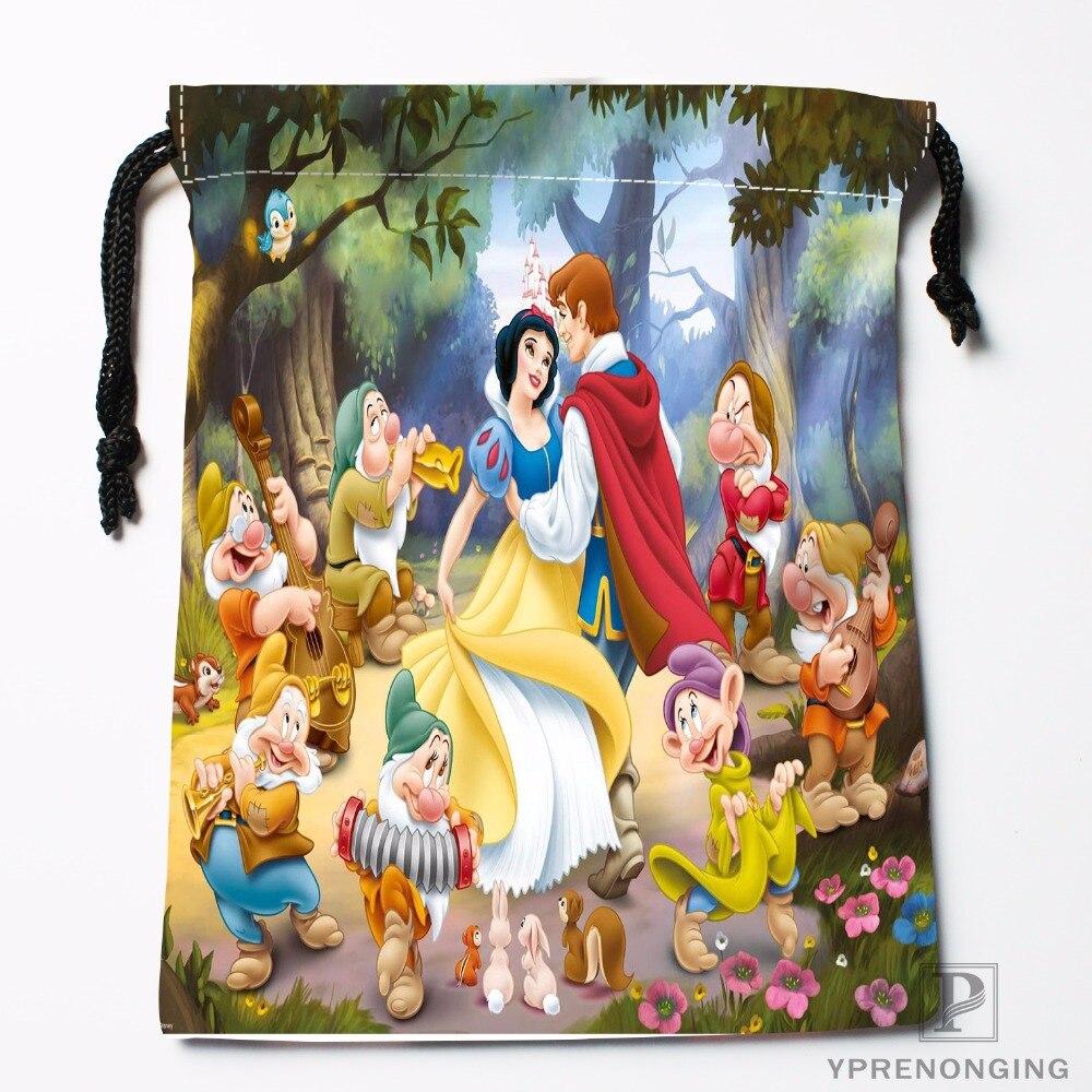 Luggage & Bags Custom Snow White Seven Dwarfs Drawstring Bags Travel Storage Mini Pouch Swim Hiking Toy Bag Size 18x22cm#0412-03-01