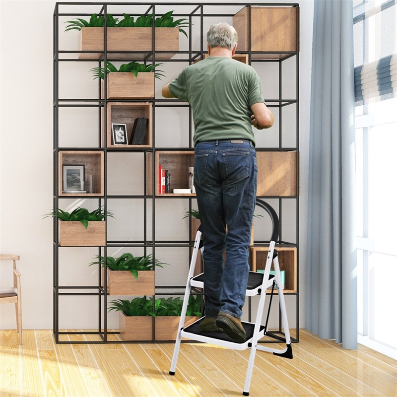 Folding Stool Heavy Duty Industrial Lightweight 2 Step Ladder Home Furniture Step Stool TL32763