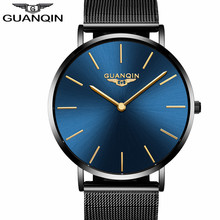 hot deal buy guanqin men watches men ultra thin quartz wristwatches simple male clocks business waterproof creative watches relogio masculino