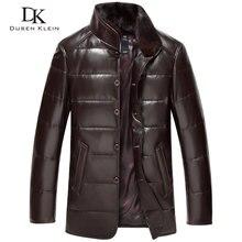 Dusen Klein leather Down Coat men Luxury Genuine Leather Hig