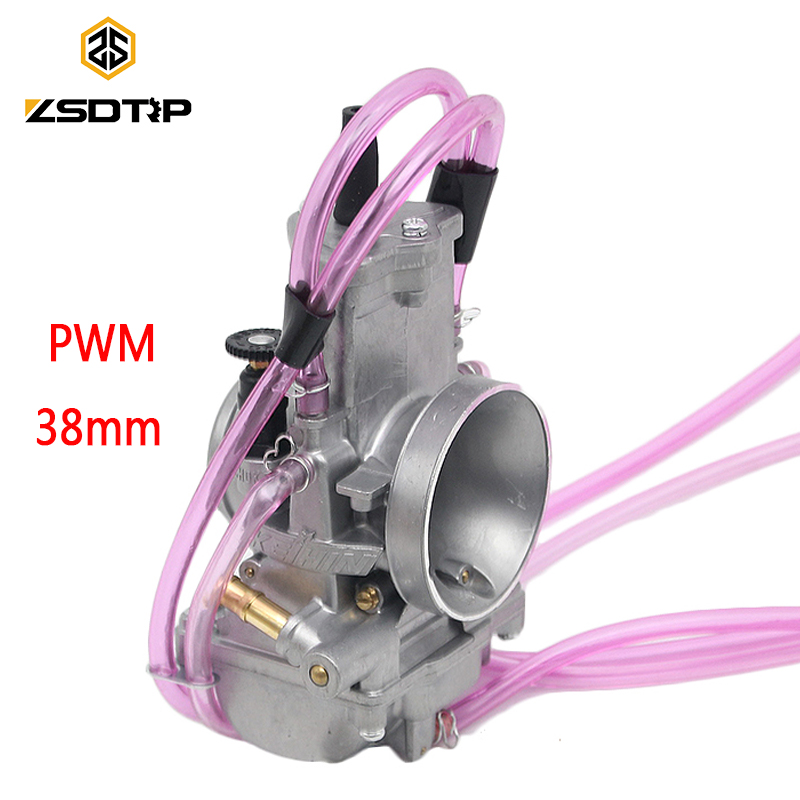 ZSDTRP PWM 38mm Keihin Carburetor Carb Universal for Shift Karts 2T Racing Motorcycle Scooter UTV ATV KTM 250CC Carburador
