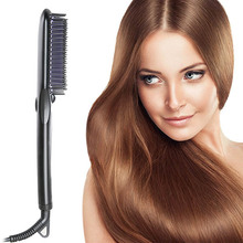 Electric Hair Straightener Comb With Anion Spray Anti Scald design Ceramic Straightening Brush Irons Hair Styling Tools