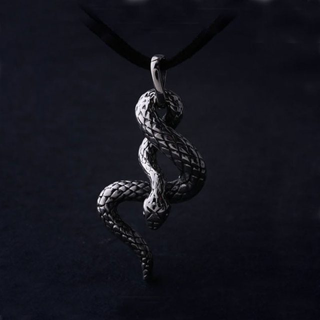 Umgodly fashion stainless steel snake necklace gothic vintage umgodly fashion stainless steel snake necklace gothic vintage titanium steel animal pendant mens womens punk jewelry aloadofball Image collections