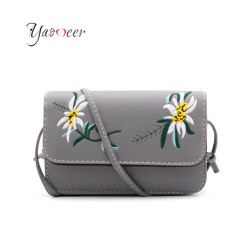 Yaomeer Embroidery Crossbody Bags For Women Small Floral Women Messenger Bags Ladies Luxury Brand Shoulder Bag Sac A Main F01 jf u new casual camouflage small bags women messenger bags ladies shoulder bag female crossbody bags for women bolsos sac a main