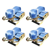 4Pcs 6 Meter 5T With Car Tension Rope Ratchet Ratchet Tie Luggage Strap Tied With Fixed