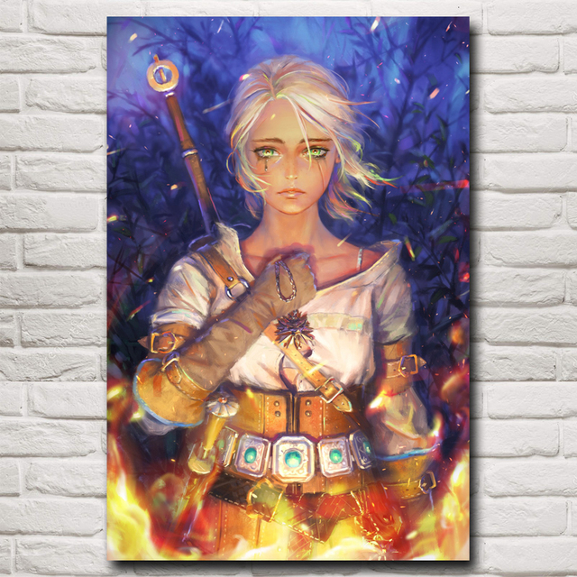 The Witcher Wild Hunt Ciri Cirilla Fiona Elen Riannon Art Silk Poster Decor Printing 12×18 16X24 20×30 24×36 Inch Free Shipping