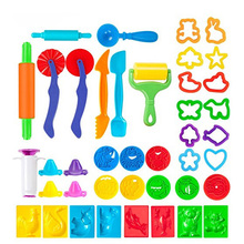 41pcs/Set Dough Tool Modelling Clay Craft Kit Cutter Mold Extruder Tools Creativity Toys