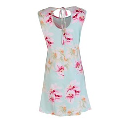 Elegant Flower Printed Summer Women Dress Sexy Sleeveless O-neck Beach Party Mini Dresses S-XL 2