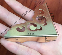 5 Pcs Chinese Antique Furniture Copper Brass Fittings Wooden Jewelry Box Copper Wrap Angle Corner Chinese