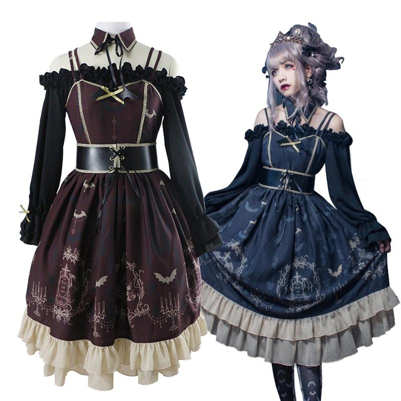 Femme gothique Lolita robe conception originale sommeil nuit ceinture JSK robe fille Lolita 2018 nouveau - 3