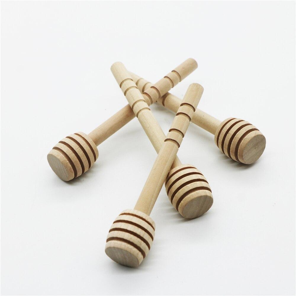 2000 pcs 10 x2cm Mini Wooden Honey Stick Wood Honey Spoon Stick Honey Dipper Honey stirrer