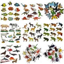 12 шт./компл. модель насекомого фигурки Фигурки игрушки пластик имитация паука таракан Жук кошка обезьяна лошадь зоопарк животное кукла подарок