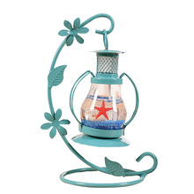 Vintage Romance candelabro vela luz vidrio mágico lámpara creativa hecha a mano Metal artesanía hogar sala de estar decoración de escritorio