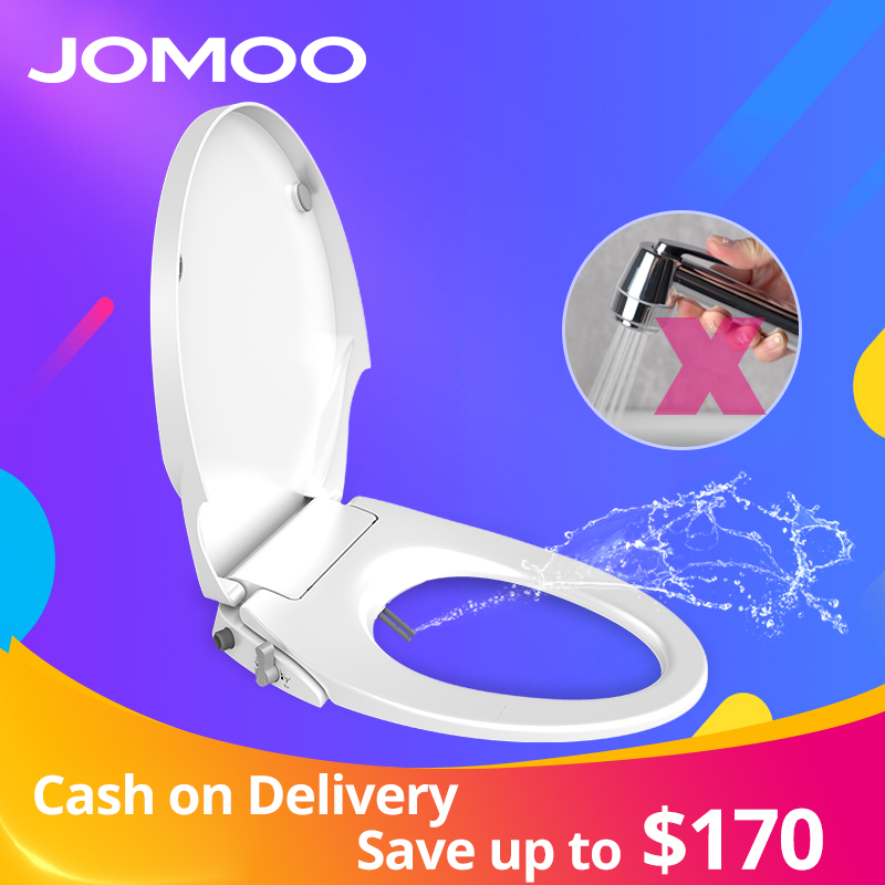 JOMOO Bidets Buttocks and Female Washing Nozzle Self Cleaning Fast Installation Cold Only Toilet Seat Cover