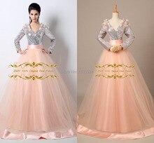 2016 silber Dubai Prom pageant kleider zwei stücke Arabische abendkleider mit langen ärmeln ballkleid vestidos de festa TK36