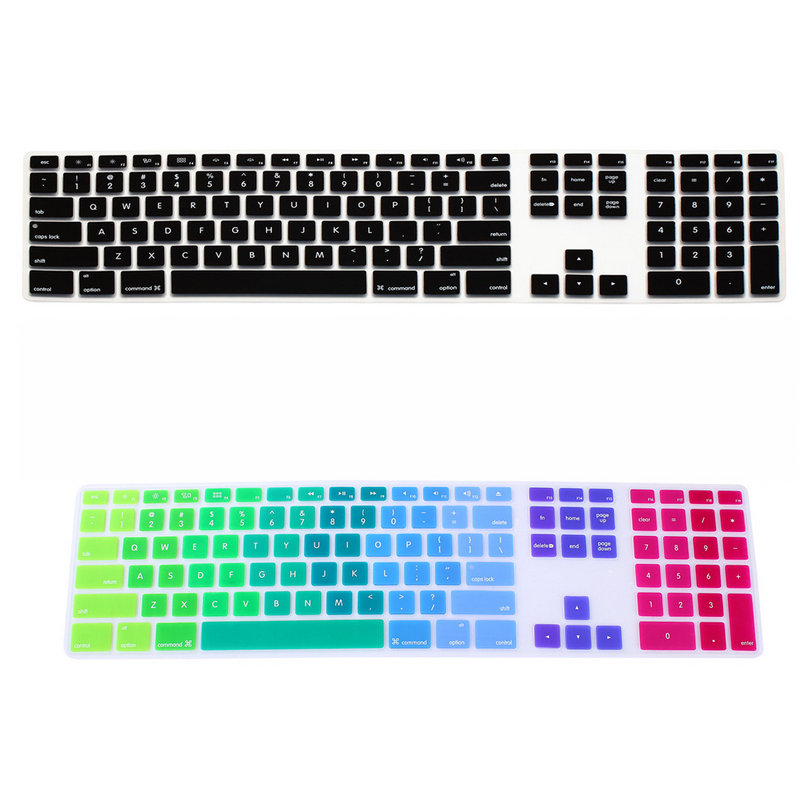 Computer Desktop Color Silicone Keyboard Cover Skin Protector with a Numeric Keypad for Apple iMac G5/G6 MB110LL/A