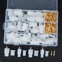 40 набор практичный автоматический Электрический 2 3 4 6 Pin 2,8 мм разъем штыревого соединения с фиксированным крючком мужской женский клеммы ко...