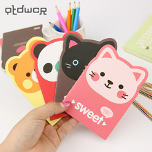 1 Pcs Kawaii Cartoon Creative Stationery Office Supplies School Notebook Diary Panda Bear Notepad Color Random random paris cover notebook 30sheets
